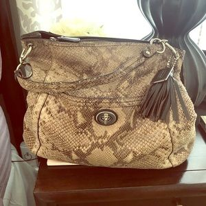 Gorgeous Coach Snakeskin style hobo bag!